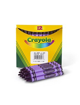 "Crayola Non Toxic Regular Single Color Refill Crayon (12 Pack), 5/16"" X 3 5/8"", Violet by Crayola"