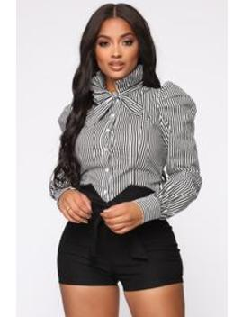 Not To Be Dramatic Shirt   Black/White by Fashion Nova