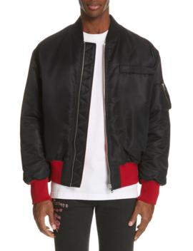 Satin Nylon Bomber Jacket by Calvin Klein 205 W39 Nyc