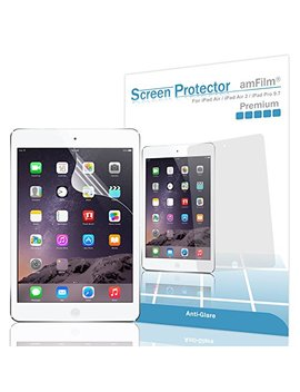 Am Film Matte Screen Protector For I Pad 9.7 6th Gen, 5th Gen, I Pad Pro 9.7, I Pad Air, Air 2, Anti Glare, Anti Fingerprint (2 Pack) by Am Film
