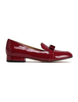 Caroline Bow Embellished Patent Leather Loafers by Michael Michael Kors