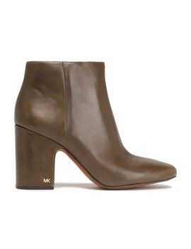 Glossed Leather Ankle Boots by Michael Michael Kors