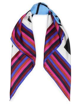 Printed Silk Twill Scarf by Diane Von Furstenberg
