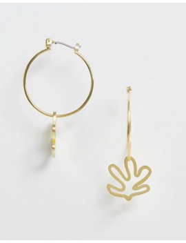 Whistles Abstract Leaf Hoop Earring by Whistles