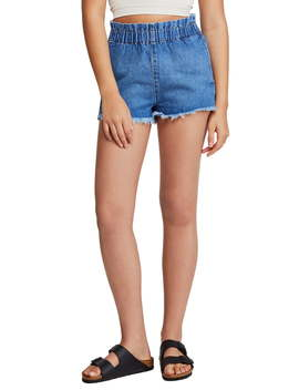 Urban Outfitters Paperbag Waist Denim Cutoff Shorts by Bdg
