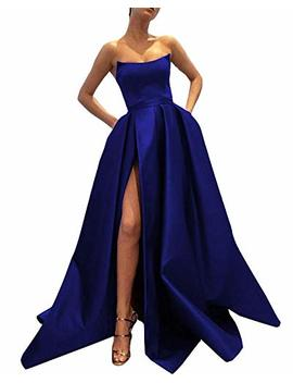 ever-beauty-womens-long-strapless-satin-prom-dress-sleeveless-slit-evening-ball-gown-with-pockets by ever-beauty