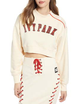 Baseball Popper Crop Sweatshirt by Ivy Park®