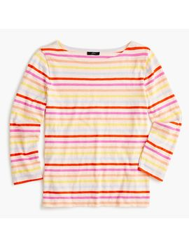 Multicolor Striped Boatneck T Shirt by J.Crew