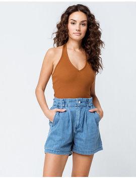 Volcom Yo Shortie Light Blue Womens Shorts by Volcom