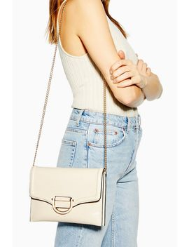 Carly Cream Crinkle Clutch Bag by Topshop