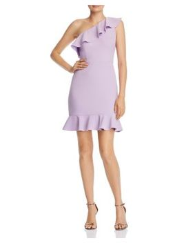 Flounced One Shoulder Dress by Aidan By Aidan Mattox