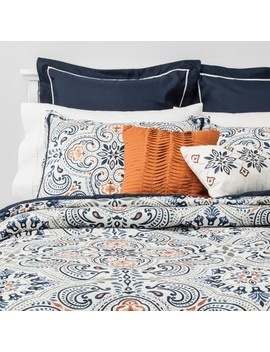8pc Medallion Opal Comforter Set Indigo by Distributed By Target
