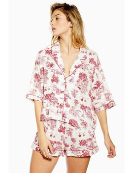 Ivory Jungle Print Pyjama Set by Topshop