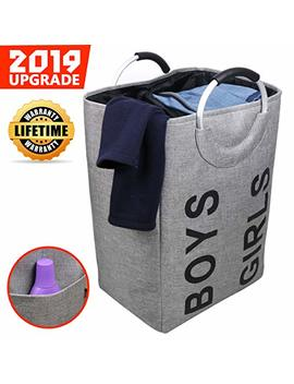 Laundry Hamper Clothes Hamper Collapsible Laundry Bags For College Students,Laundry Basket Easy Carry Folding Tall Clothing Hamper Handy Standing (Life Time Warranty) by Semk