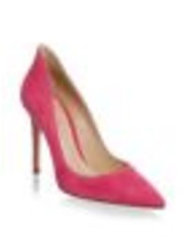 Point Toe Suede Pumps by Gianvito Rossi
