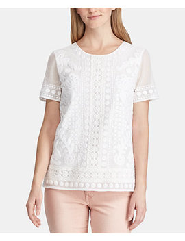 Embroidered Top, Created For Macy's by Lauren Ralph Lauren