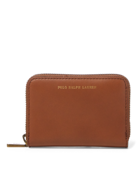 Leather Small Zip Wallet by Ralph Lauren