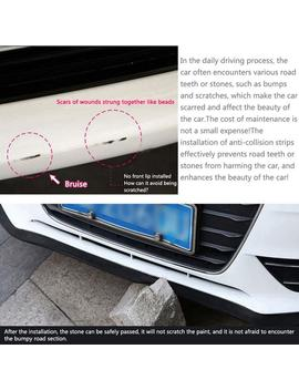 2.5 M Anti Collision Strip Car Front Bumper Anti Scratch Carbon Fiber Front Lip Side Back Bumper Protector by Ali Express