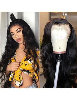 Tuneful 150% Density Human Hair Glueless Lace Front Wigs With Baby Hair Brazilian Body Wave Human Hair Wigs For Black Women Pre Plucked Lace Wigs... by Tuneful