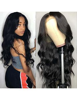 Tuneful Unprocessed Virgin Brazilian Body Wave Human Hair Lace Front Wigs With Baby Hair 130% Density Pre Plucked Natural Hairline Wigs For Black... by Tuneful