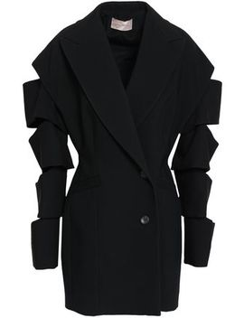 Double Breasted Cutout Crepe Blazer by Christopher Kane