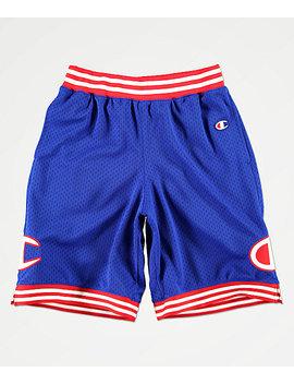 Champion Blue Mesh Basketball Shorts by Champion