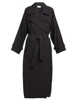 Papery Cotton Blend Trench Coat by Raey