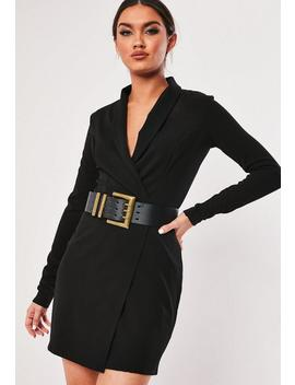 Black 3 Clasp Belt by Missguided