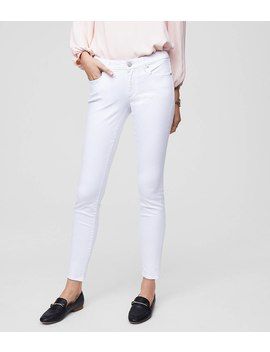 Petite Curvy Slim Pocket Skinny Jeans In White by Loft