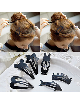 Hairpin Lnrrabc Headwear 2 Black Fashion Sale Women Lovely Barrette Hot Hair Pcs/Lot Popular Kids Girls Accessories Hair by Lnrrabc