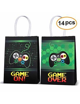 Video Game Party Supplies Favors,Gaming Party Bags For Video Game Birthday Party Supplies Decorations,Kids Gamer Party Supplies Decorations Set Of 14 by Joyet