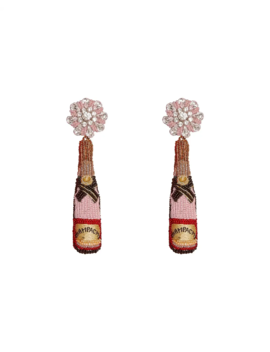 Rose Bottle Earrings by Mignonne Gavigan