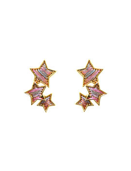 Threaded Star Earrings by Mignonne Gavigan