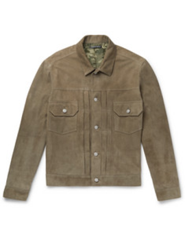 Suede Trucker Jacket by Richard James