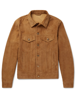 Slim Fit Suede Trucker Jacket by Alanui