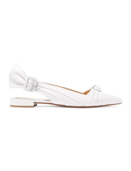 Knotted Leather Slingback Flats by Francesco Russo
