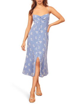 Cybill Button Front Sundress by Reformation