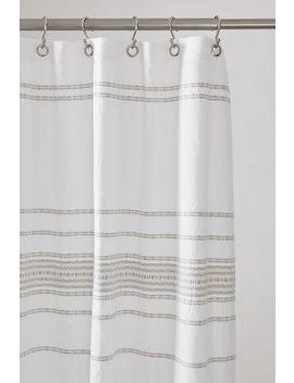 Coyuchi Rippled Stripe Organic Shower Curtain by Coyuchi