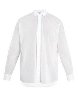 Oversized Point Collar Cotton Shirt by Berluti