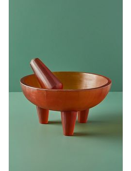 Silvia Molcajete Bowl And Pestle by Anthropologie