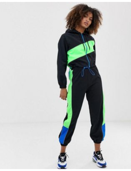 Collusion Colour Block Tracksuit by Asos