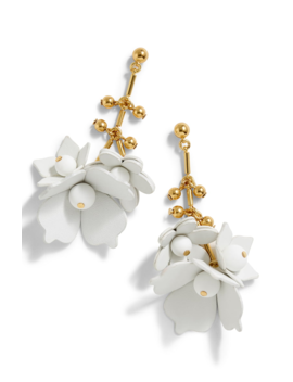 Leather Flower Earrings by J.Crew