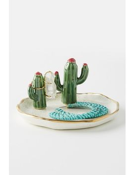 Cactus Trinket Dish by Anthropologie