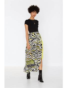 Ahead Of The Pack Zebra Wrap Skirt by Nasty Gal