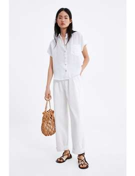 Linen Shirt With Pockets Join Lifewoman Corner Shops by Zara