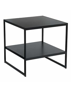 Household Essentials Square 2 Tier Black End Table, by Household Essentials
