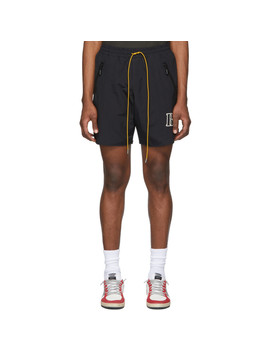 Black Logo Shorts by Rhude