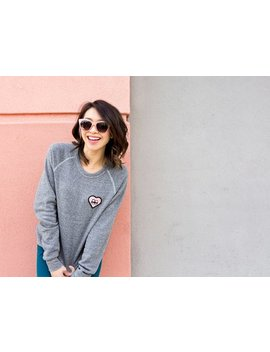 """Panda Bums"" Patch Sweater (Heather Grey) by Steppie"