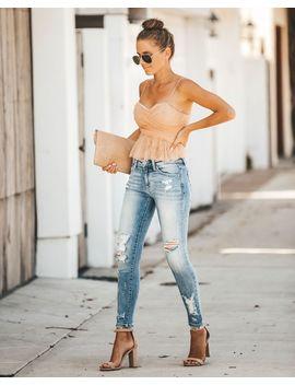 c9341c0a3cd0a VICI. Vogue Chiffon + Lace Crop Top ...