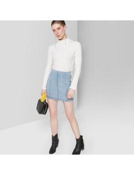 3348a664e8e8 Shoptagr | Women's Button Front Rib Mini Skirt Wild Fable™ Burgundy ...